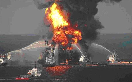 BP's Deepwater Horizon rig exploded killing 11 and causing a giant oil leak in the Gulf of Mexico in 2010.