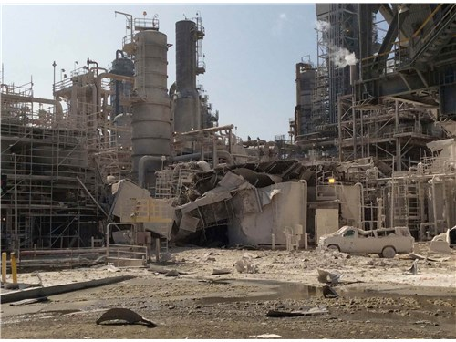 Aftermath of the ExxonMobil blast in Torrance, CA.