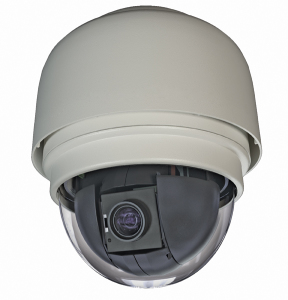 Toshiba's WP8203R PTZ camera can operate in the harsh outdoors.
