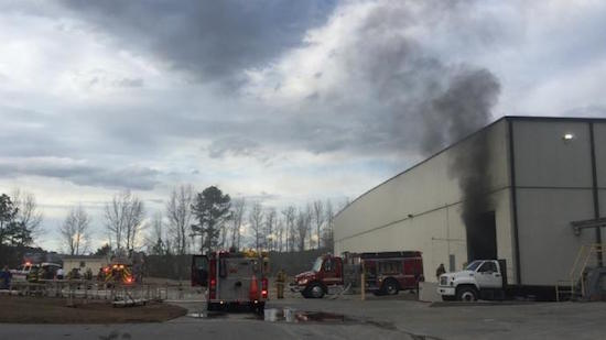 Small Fire at Grady-White Boats in Greenville, NC, forced an evacuation.